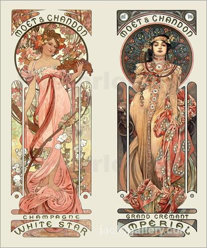 Moet and Chandon, Alphonse Mucha painting