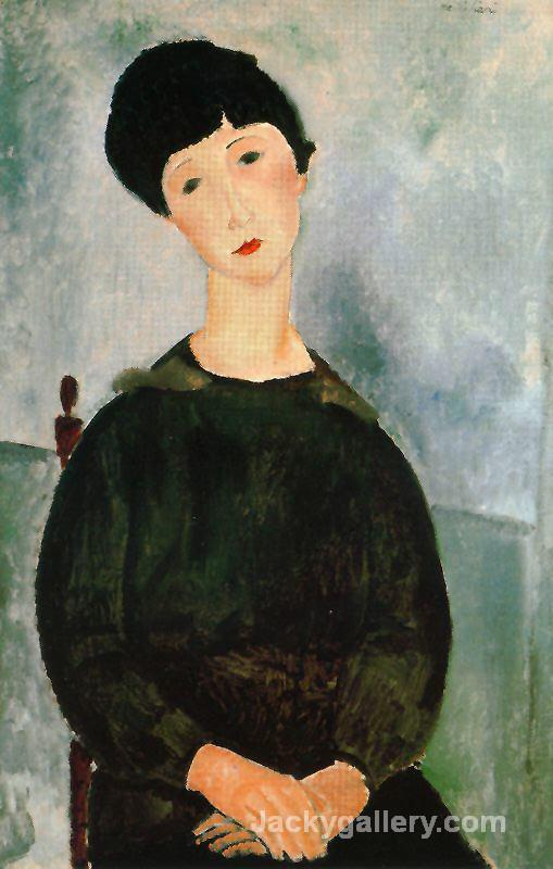 A young girl by Amedeo Modigliani paintings reproduction