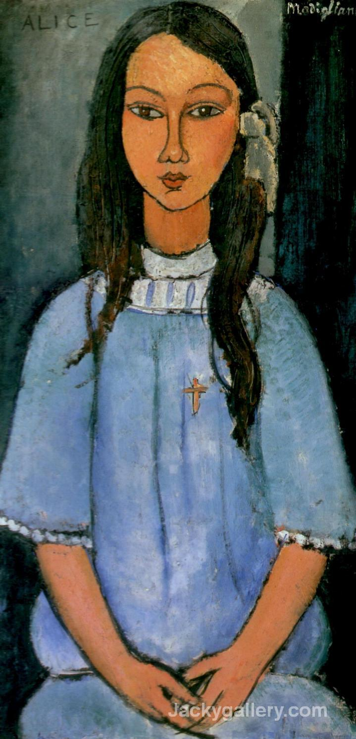 Alice by Amedeo Modigliani paintings reproduction