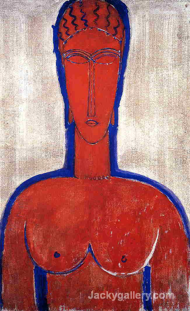 Big Red Buste by Amedeo Modigliani paintings reproduction