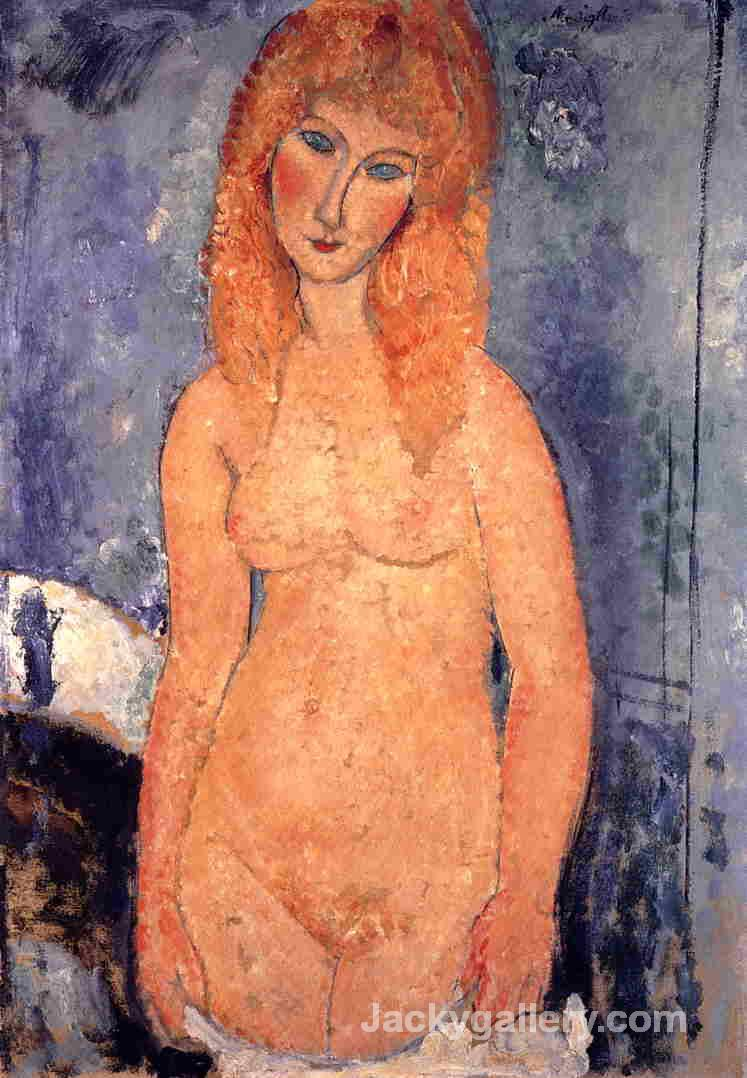 Blonde Nude by Amedeo Modigliani paintings reproduction