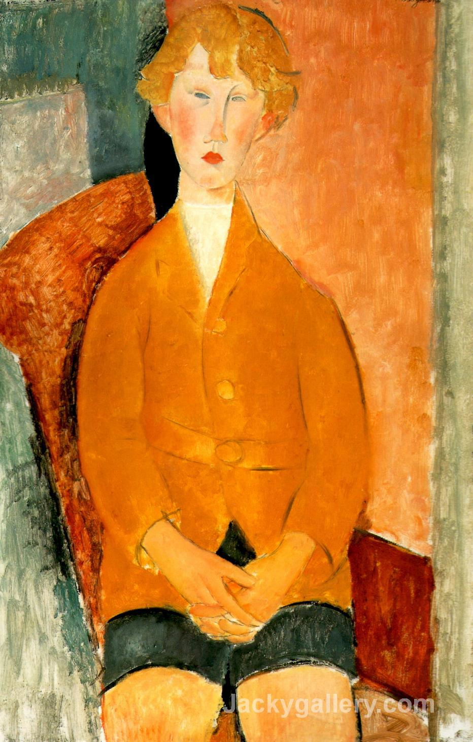 Boy in Short Pants by Amedeo Modigliani paintings reproduction