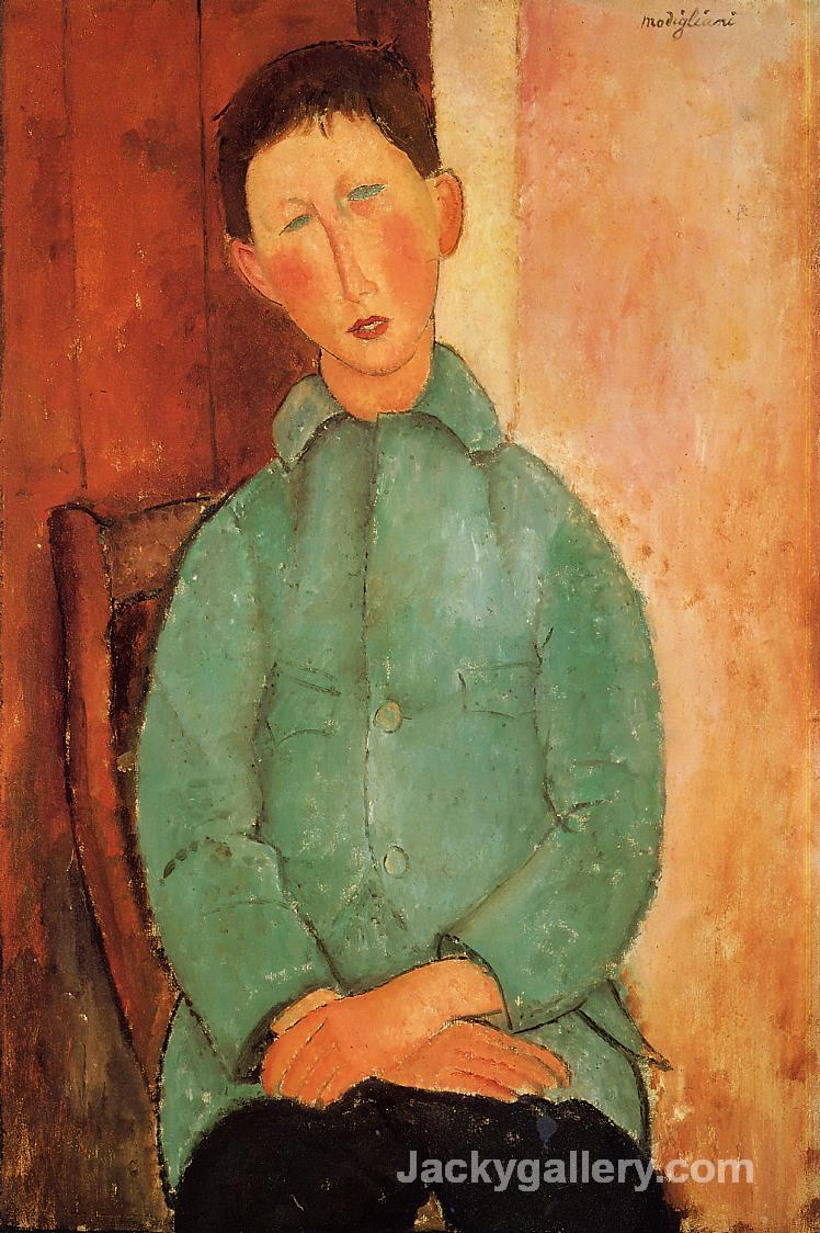 Boy in a Blue Shirt by Amedeo Modigliani paintings reproduction