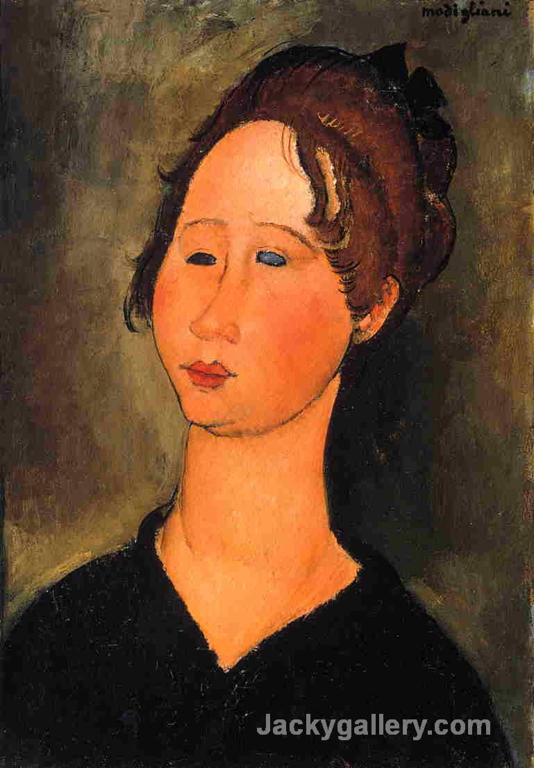 Burgundian Woman by Amedeo Modigliani paintings reproduction