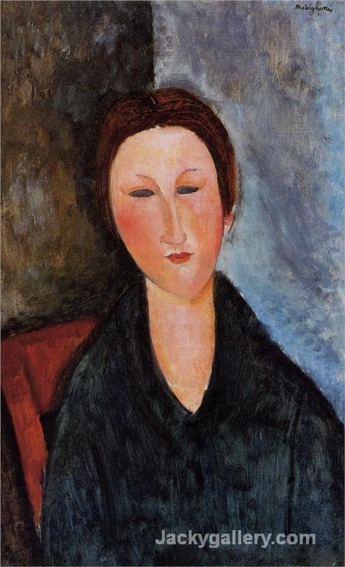 Bust of a Young Woman (Mademoiselle Marthe) by Amedeo Modigliani paintings reproduction