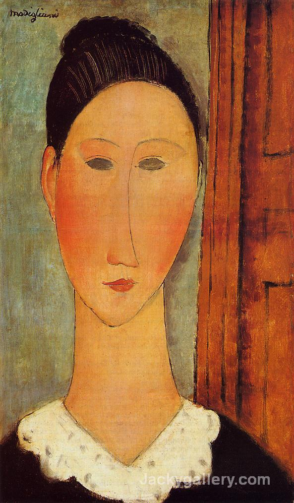 Head of a Girl by Amedeo Modigliani paintings reproduction