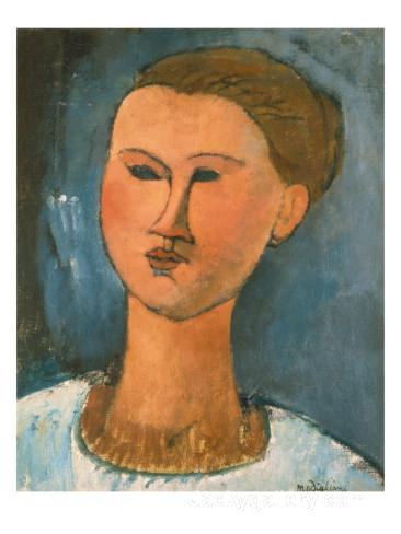 Head of a Woman by Amedeo Modigliani paintings reproduction