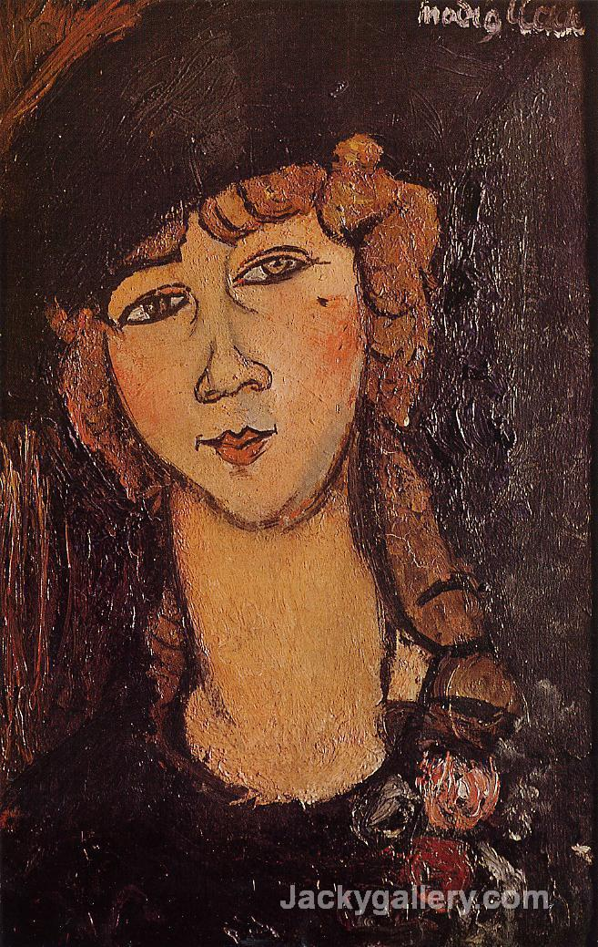 Head of a Woman in a Hat (aka Lolotte) by Amedeo Modigliani paintings reproduction