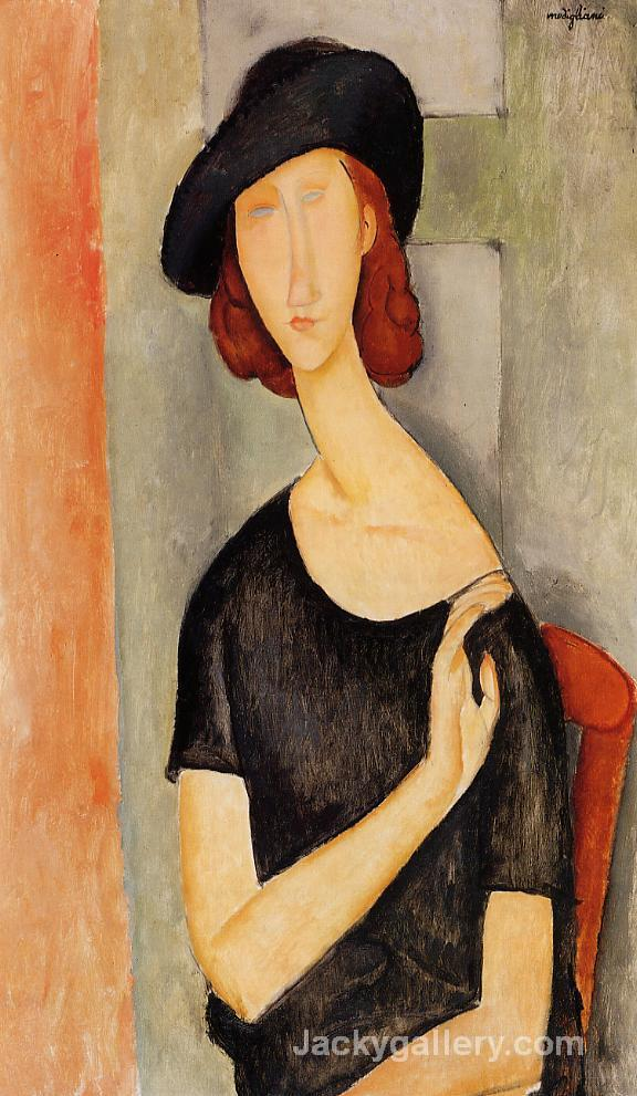 Jeanne Hebuterne in a Hat by Amedeo Modigliani paintings reproduction