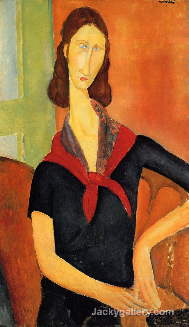 Jeanne Hebuterne in a Scarf by Amedeo Modigliani paintings reproduction