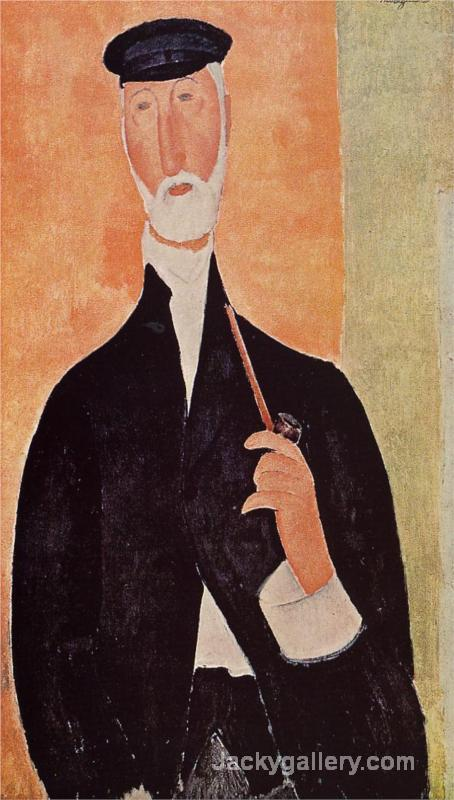Man with a Pipe (The Notary of Nice) by Amedeo Modigliani paintings reproduction