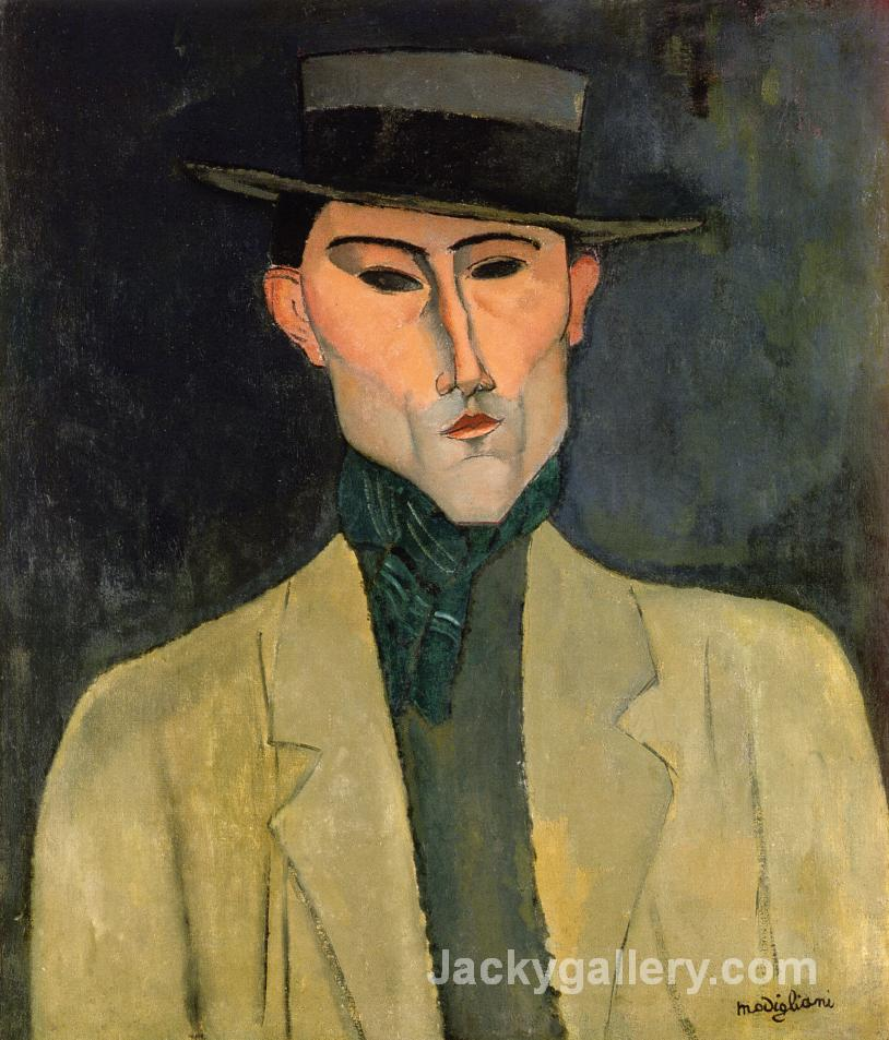 Man witih Hat by Amedeo Modigliani paintings reproduction