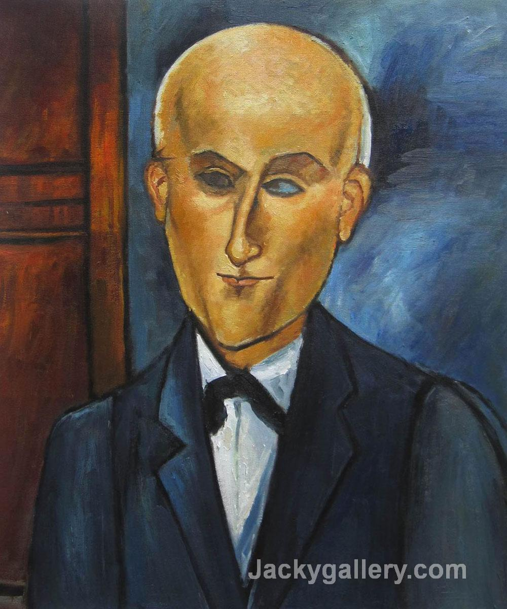 Max Jacob by Amedeo Modigliani paintings reproduction