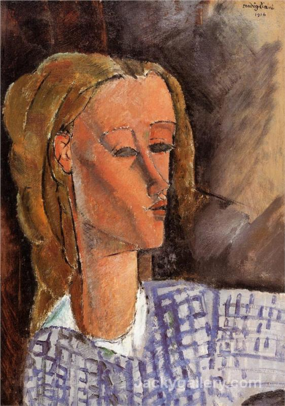 Portrait of Beatrice Hastings by Amedeo Modigliani paintings reproduction
