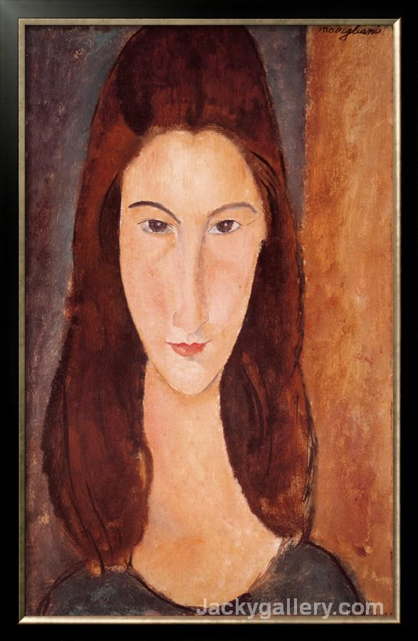 Portrait of Jeanne Hebuterne by Amedeo Modigliani paintings reproduction