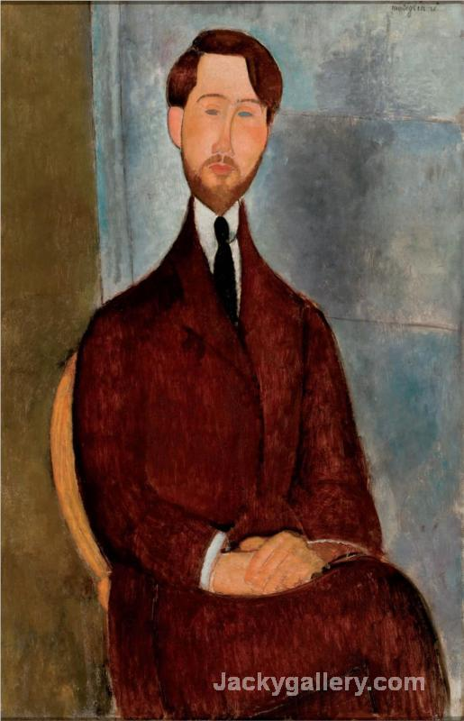 Portrait of Leopold Zborowski by Amedeo Modigliani paintings reproduction