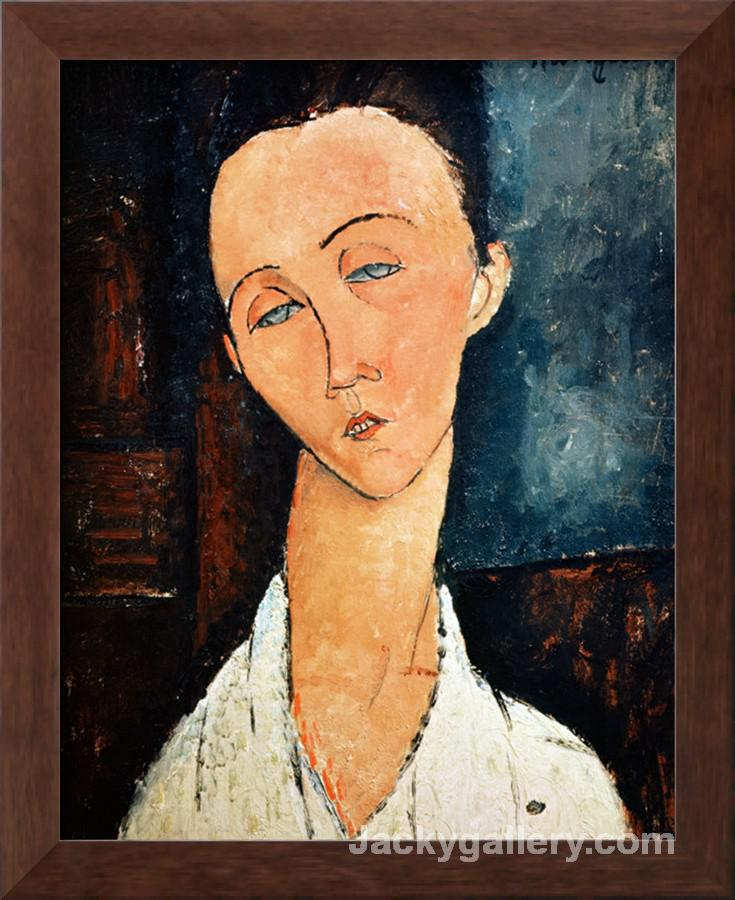 Portrait of Lunia Czechowska by Amedeo Modigliani paintings reproduction