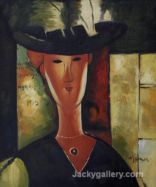 Portrait of Madam Pompadour, by Amedeo Modigliani paintings reproduction