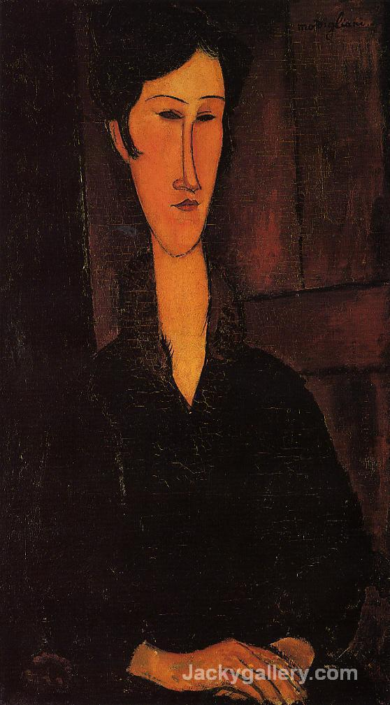 Portrait of Madame Zborowska by Amedeo Modigliani paintings reproduction