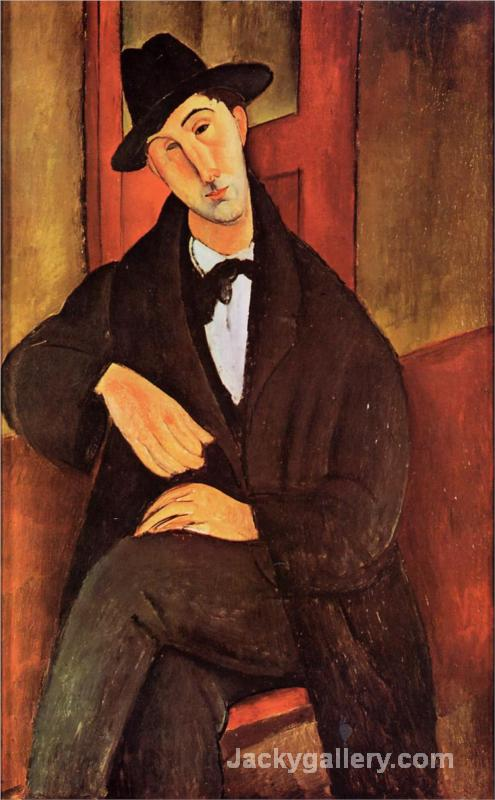 Portrait of Mario Varvogli by Amedeo Modigliani paintings reproduction