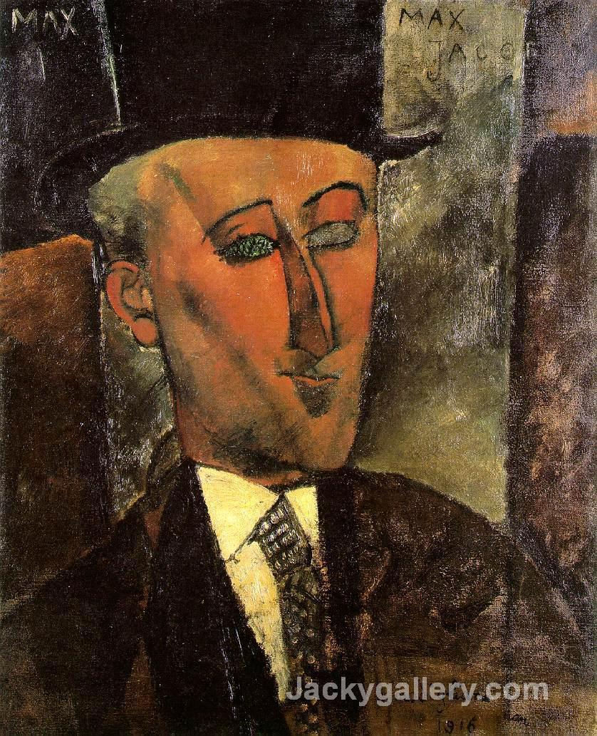 Portrait of Max Jacob by Amedeo Modigliani paintings reproduction