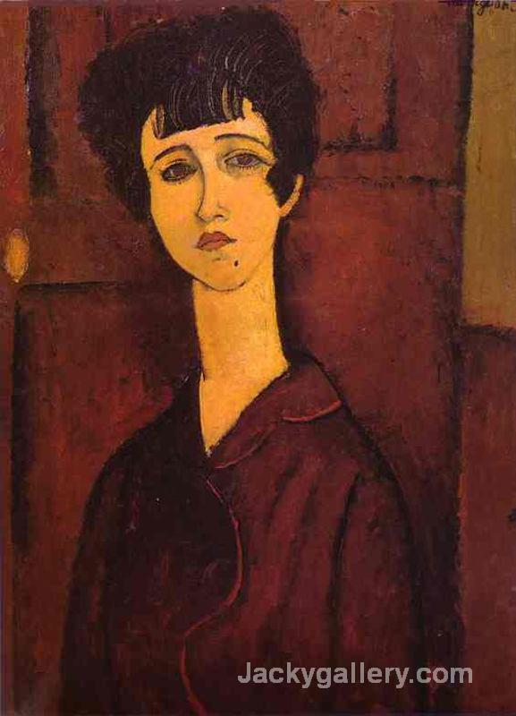 Portrait of a girl (Victoria) by Amedeo Modigliani paintings reproduction