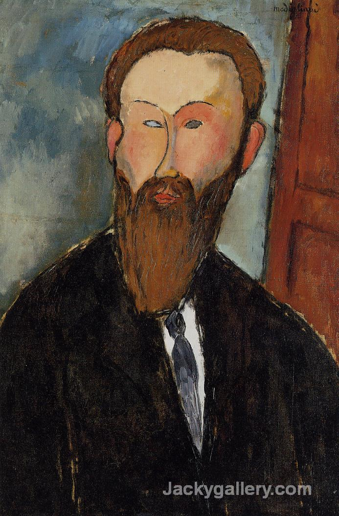 Portrait of the Photographer Dilewski by Amedeo Modigliani paintings reproduction
