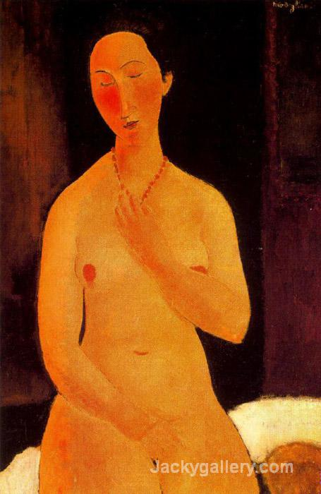 Seated Nude with Necklace by Amedeo Modigliani paintings reproduction