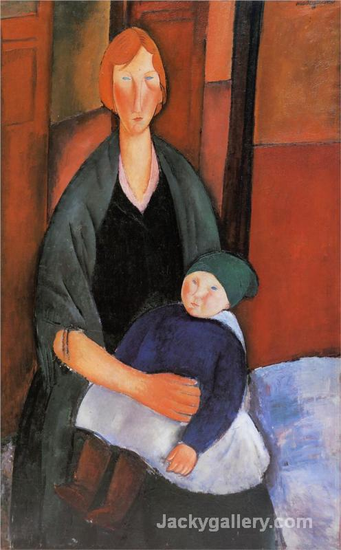 Seated Woman with Child (Motherhood) by Amedeo Modigliani paintings reproduction