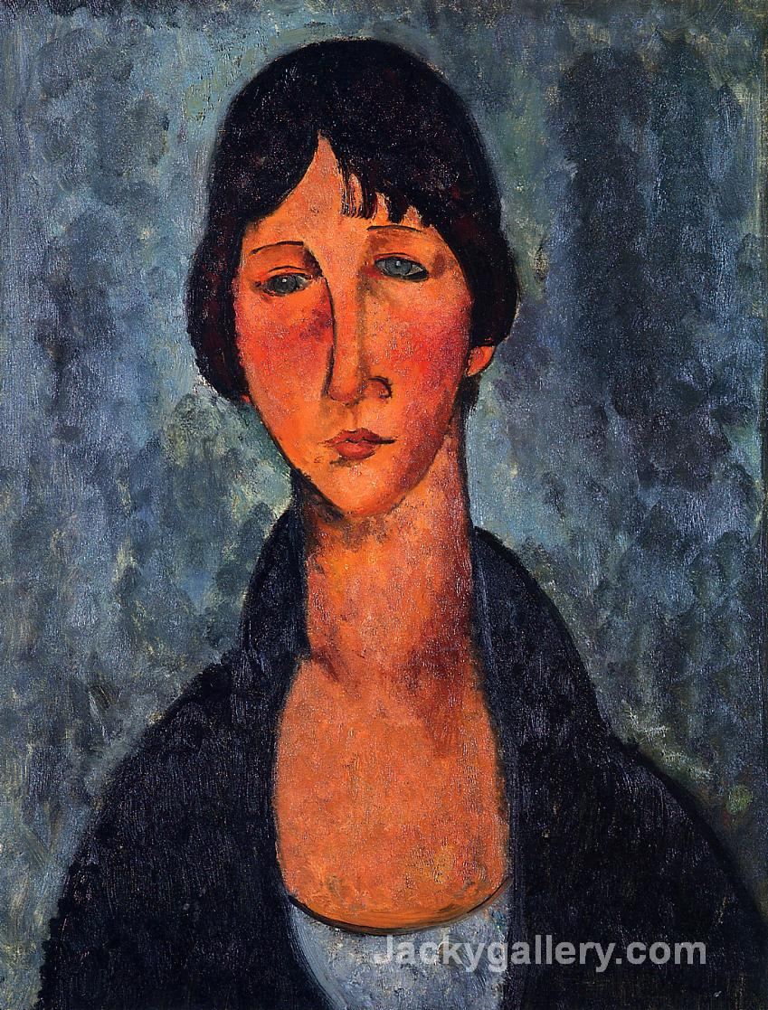 The Blue Blouse by Amedeo Modigliani paintings reproduction
