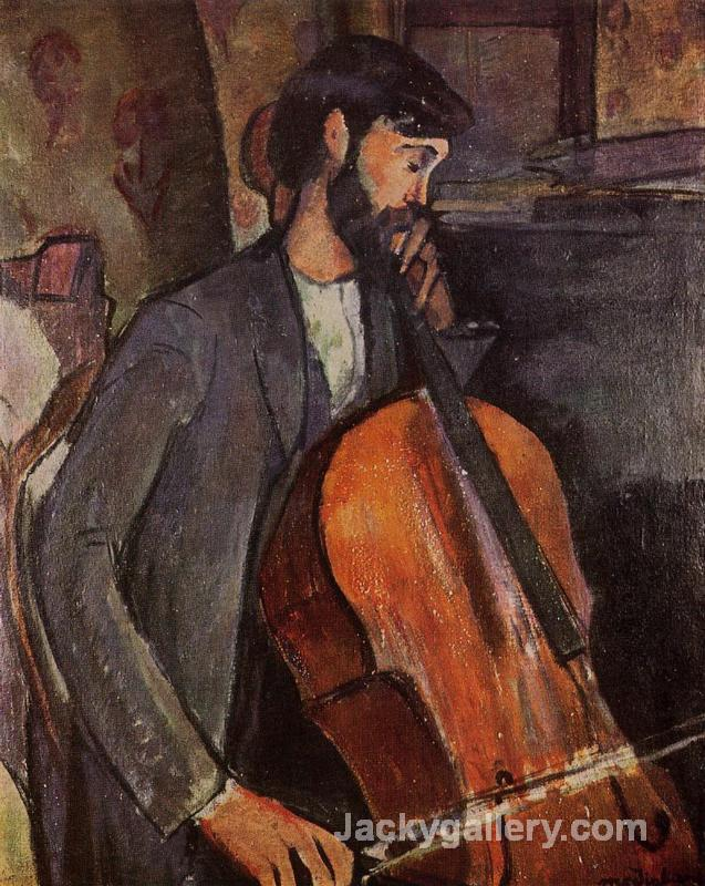 The Cellist by Amedeo Modigliani paintings reproduction