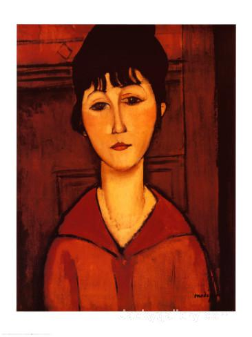 Woman in a Brown Dress by Amedeo Modigliani paintings reproduction