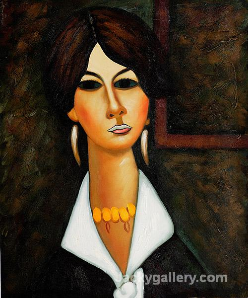 Woman of Algiers by Amedeo Modigliani paintings reproduction