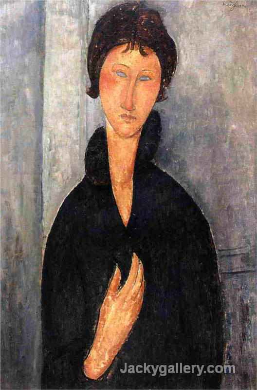 Woman with Blue Eyes by Amedeo Modigliani paintings reproduction