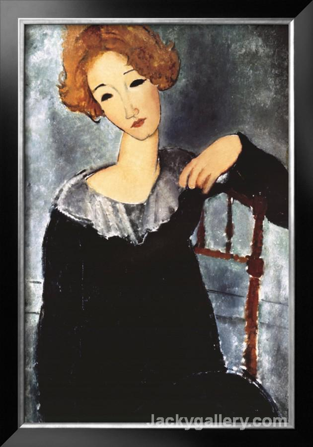 Woman with Red Hair by Amedeo Modigliani paintings reproduction