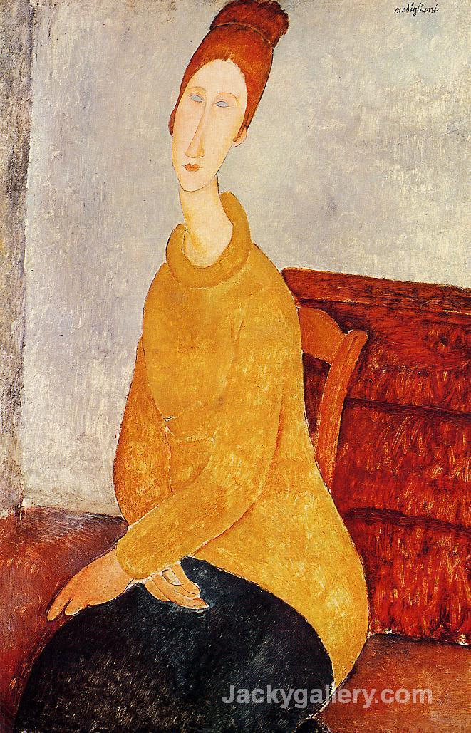 Yellow Sweater by Amedeo Modigliani paintings reproduction