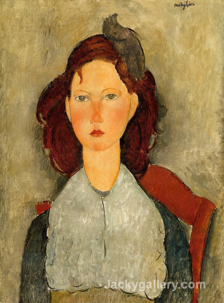 Young Girl Seated by Amedeo Modigliani paintings reproduction
