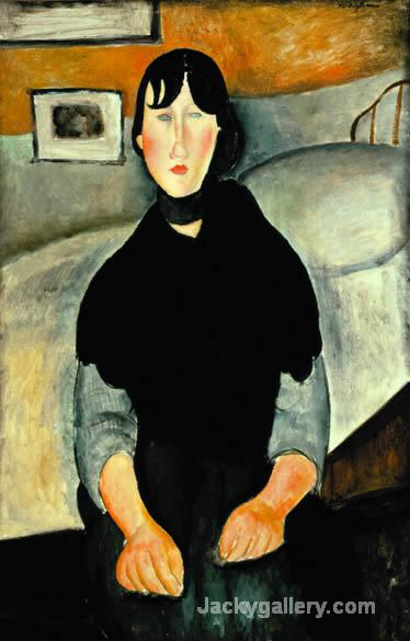 Young Woman of the People by Amedeo Modigliani paintings reproduction
