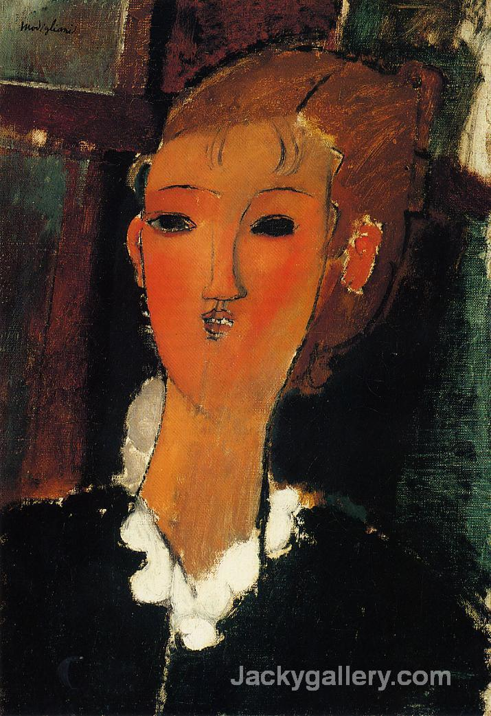 Young Woman with a Small Ruff by Amedeo Modigliani paintings reproduction