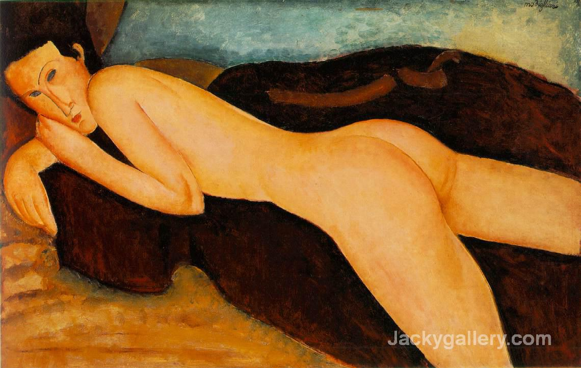 reclining nude from the back by Amedeo Modigliani paintings reproduction