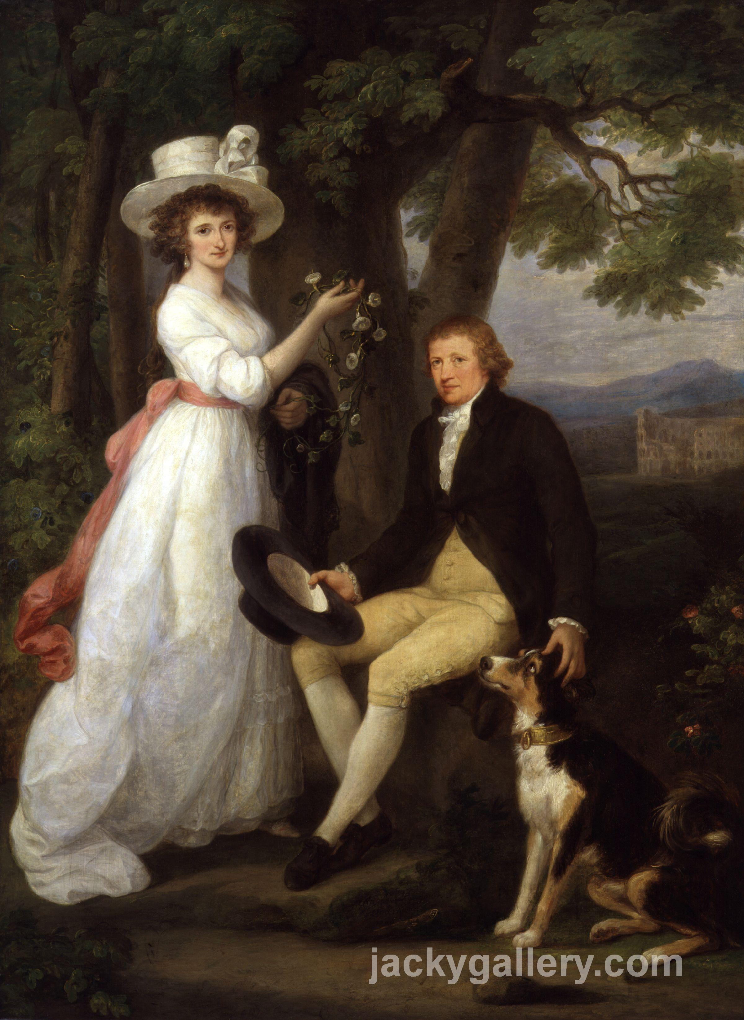 Anna Maria Jenkins and Thomas Jenkins, Angelica Kauffman painting