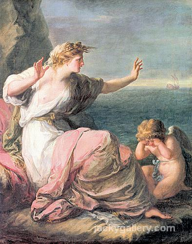 Ariadne left on the island of Naxos, Angelica Kauffman painting