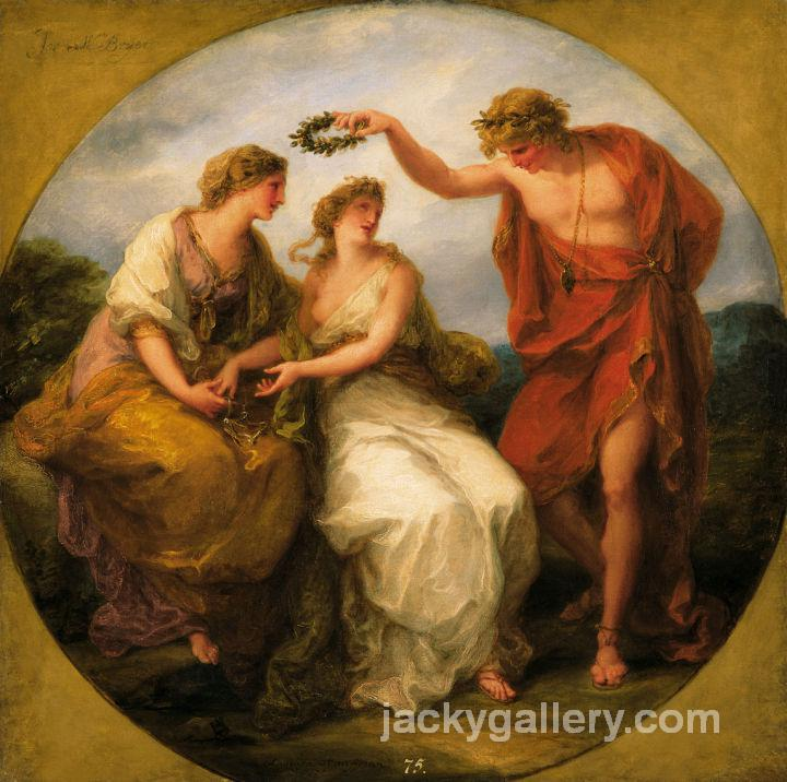 Beauty Directed by Prudence, Angelica Kauffman painting