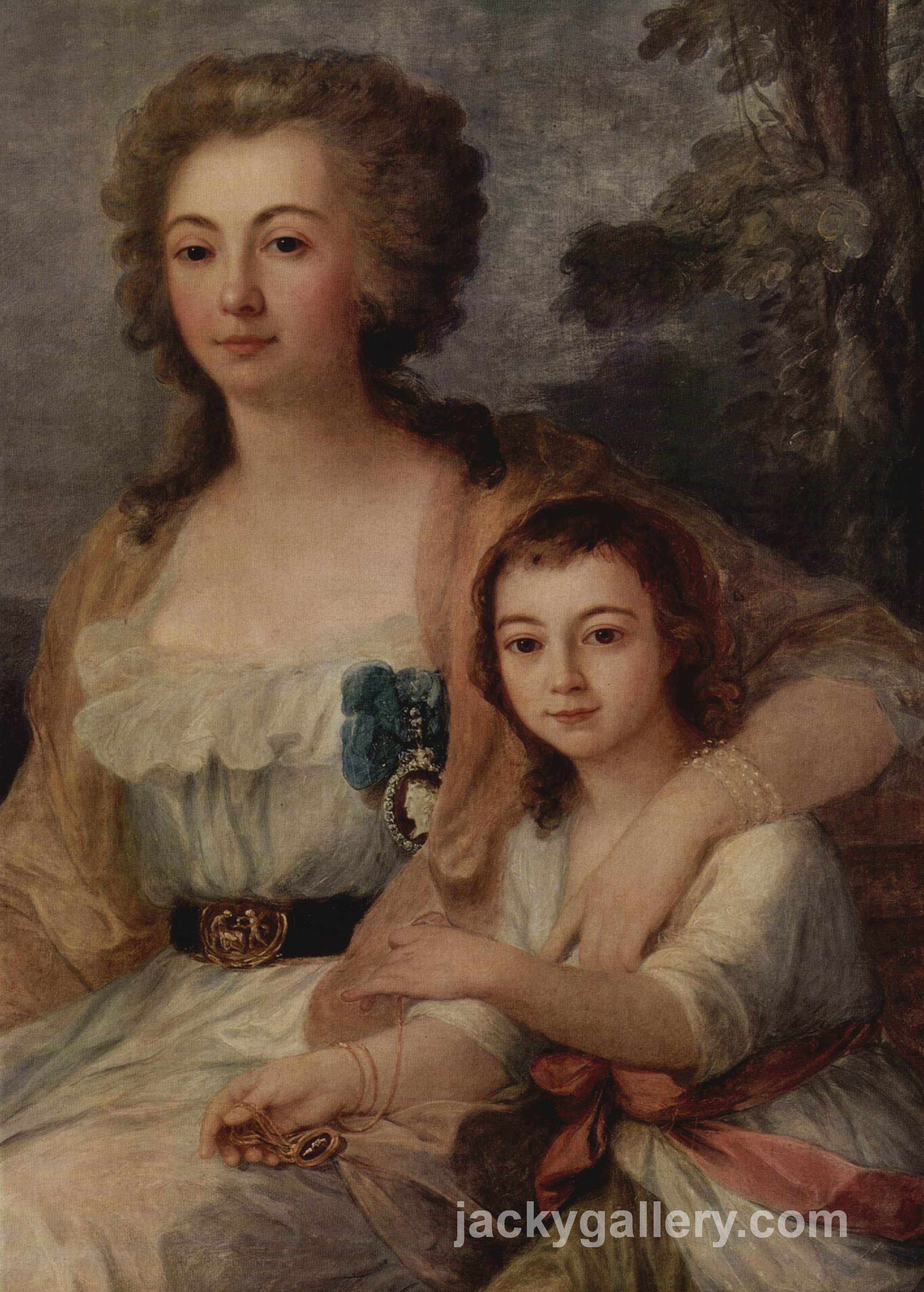 Countess Anna Protassowa with niece, Angelica Kauffman painting
