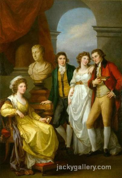 Family portrait of Catherine Petrovna Baryatinskiy, Angelica Kauffman painting