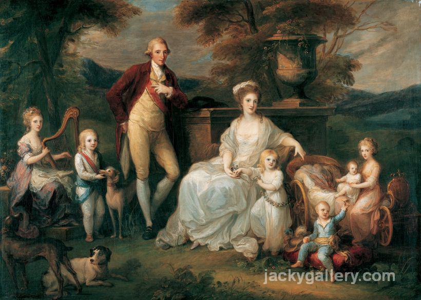 Ferdinand IV King of Naples and his Family, Angelica Kauffman painting