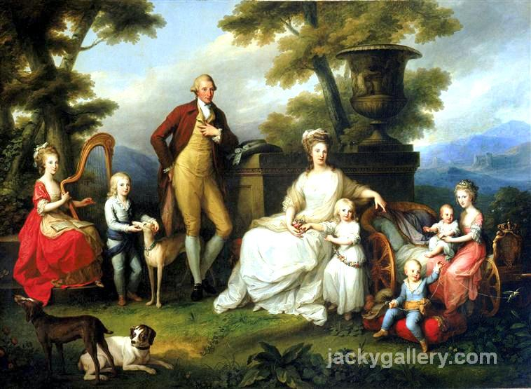 Ferdinand IV of Naples and his family, Angelica Kauffman painting