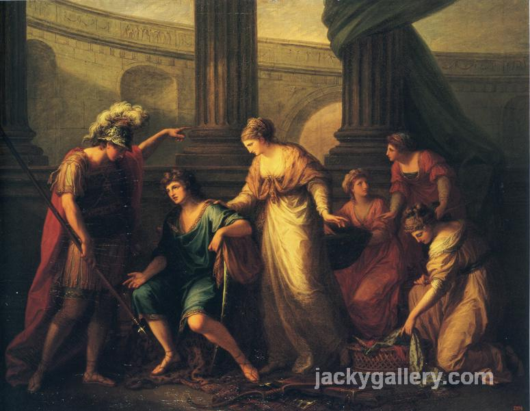 Hector Calls Paris to the Battle, Angelica Kauffman painting