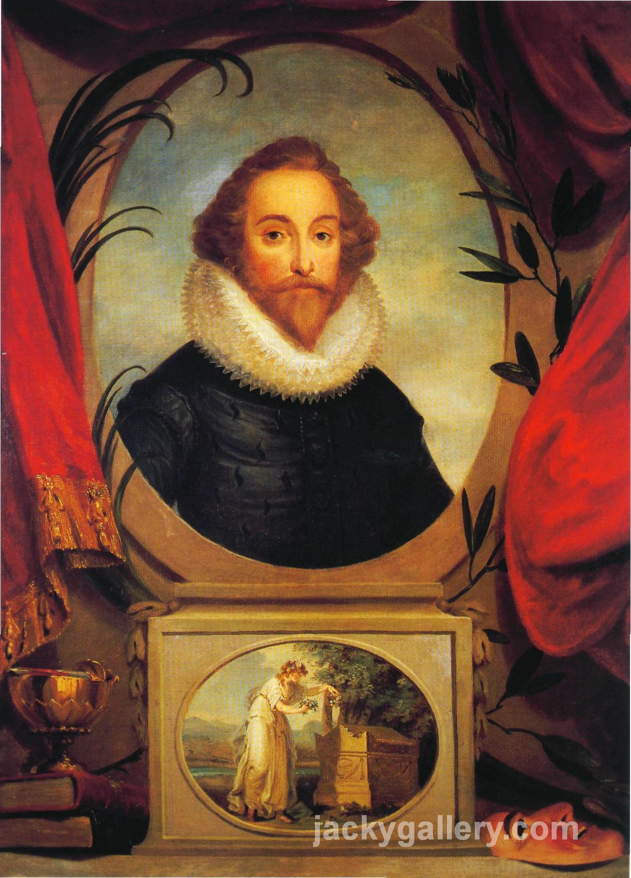 Ideal portrait of Shakespeare, Angelica Kauffman painting