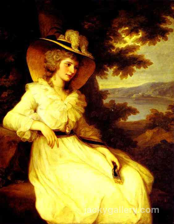 Lady Elizabeth Foster, Angelica Kauffman painting